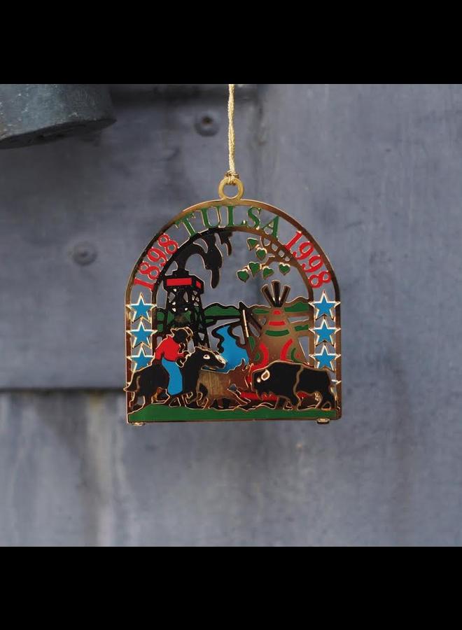 Tulsa City Centennial Commemorative Ornament 1998