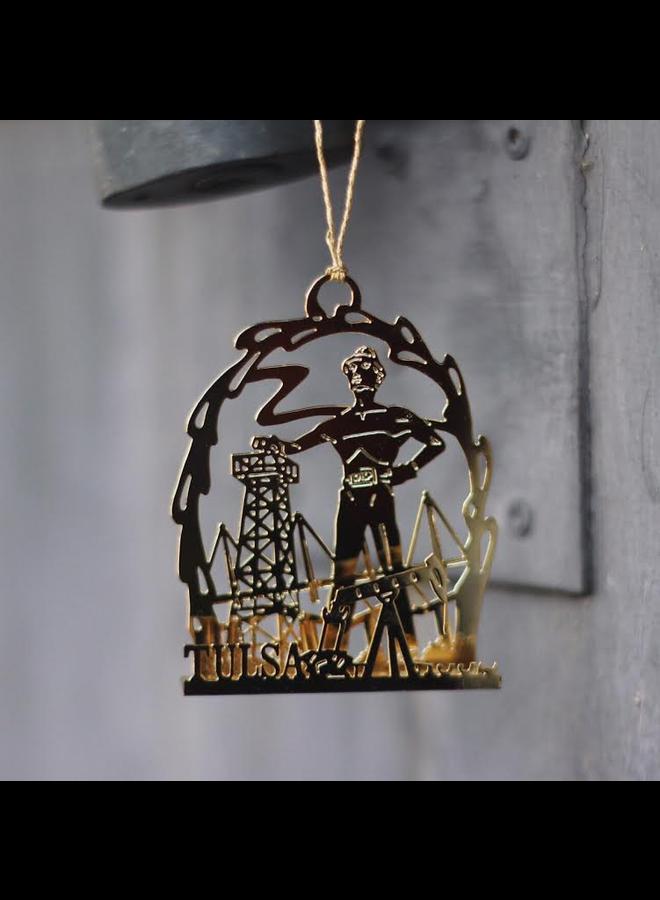 Golden Driller Ornament 1992