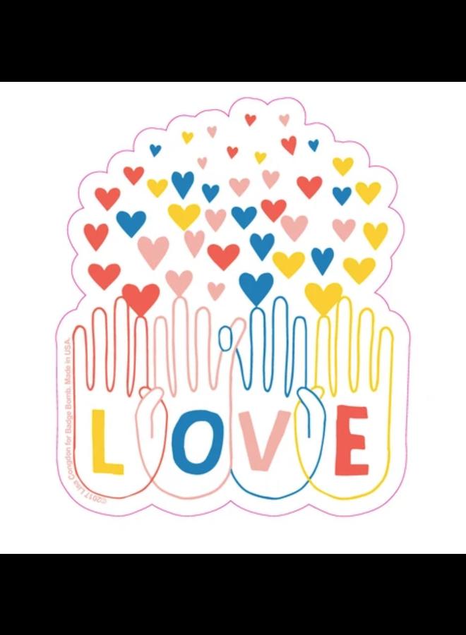 Love Hands Sticker