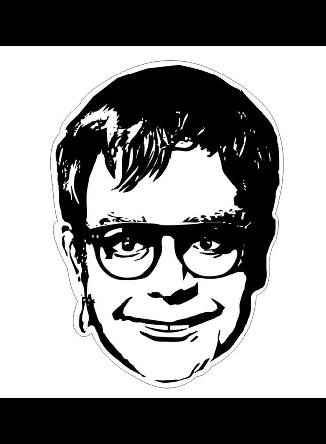 Elton John B&W Sticker
