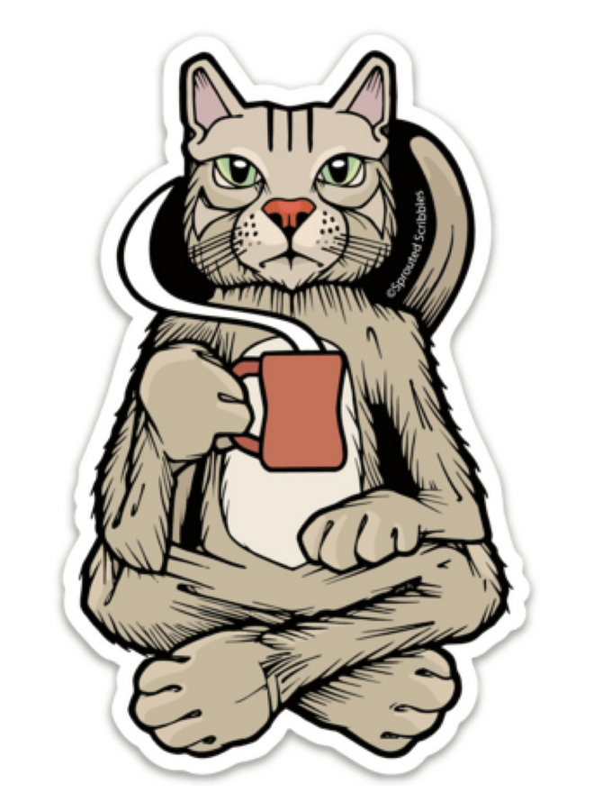 Coffee Cat Sticker