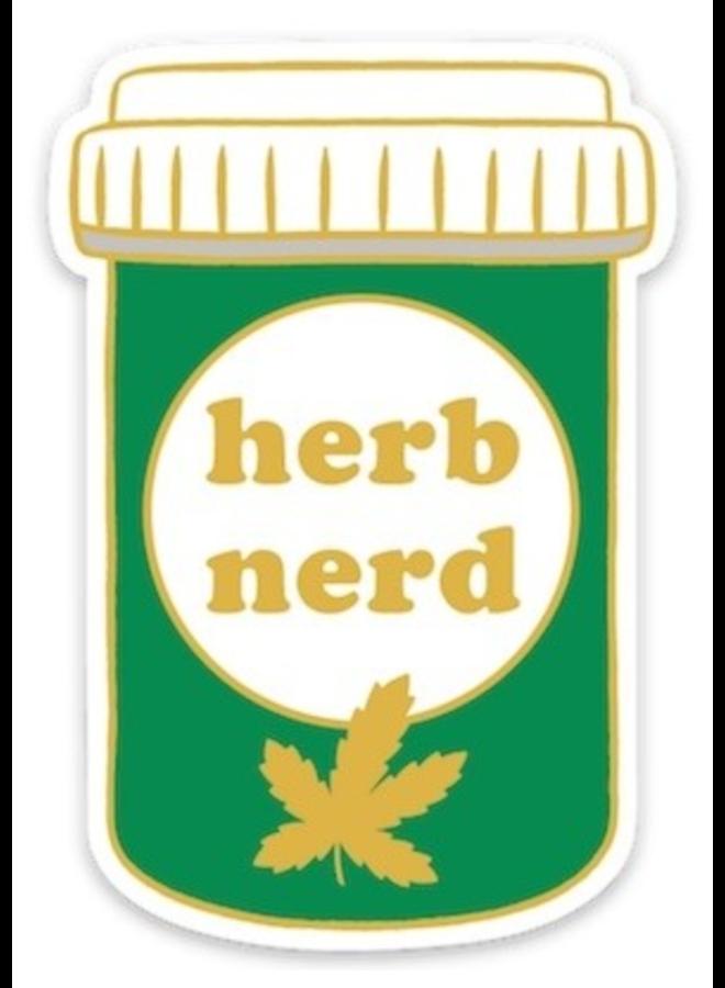 Herb Nerd Sticker