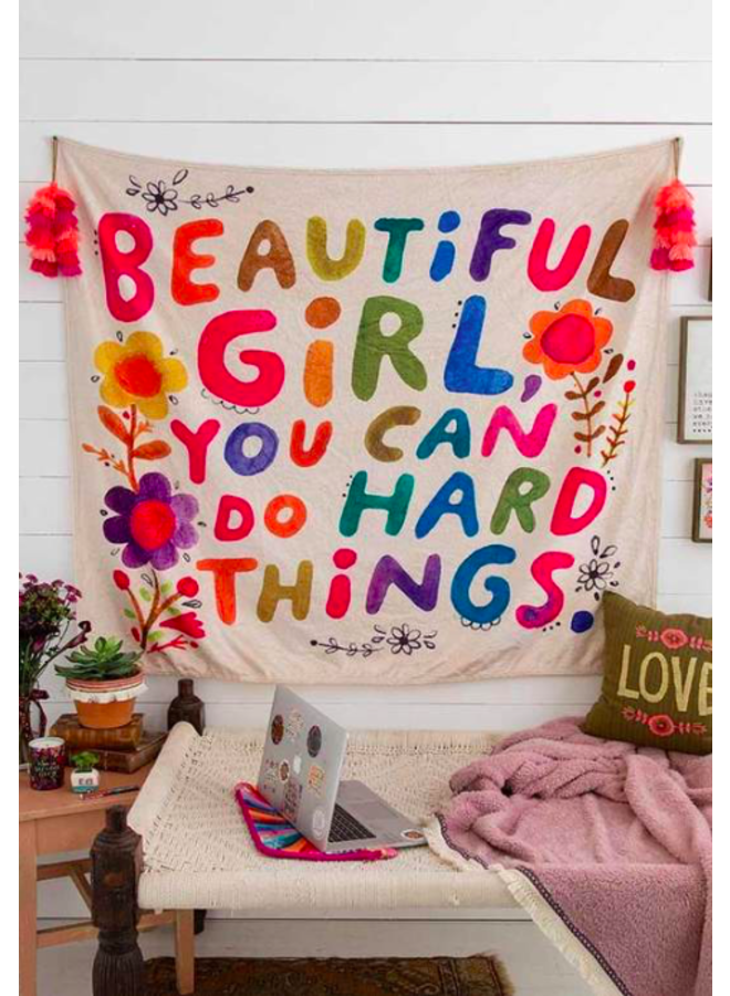 Beautiful Girl Tapestry Blanket