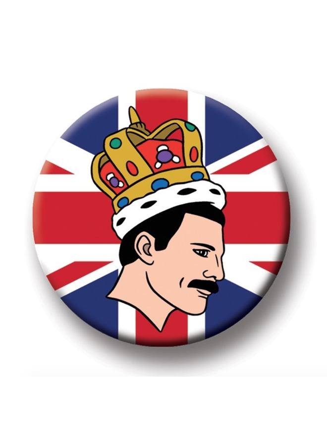 Freddie Mercury Round Magnet