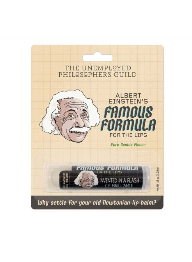 Einstein's Famous Formula For The Lips
