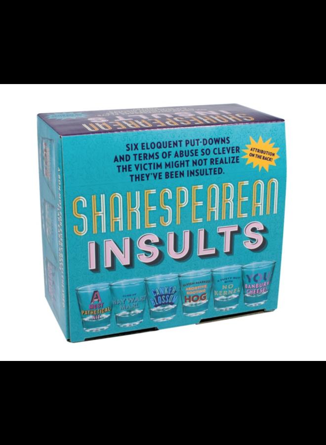 Shakespearean Insults Shot Glasses