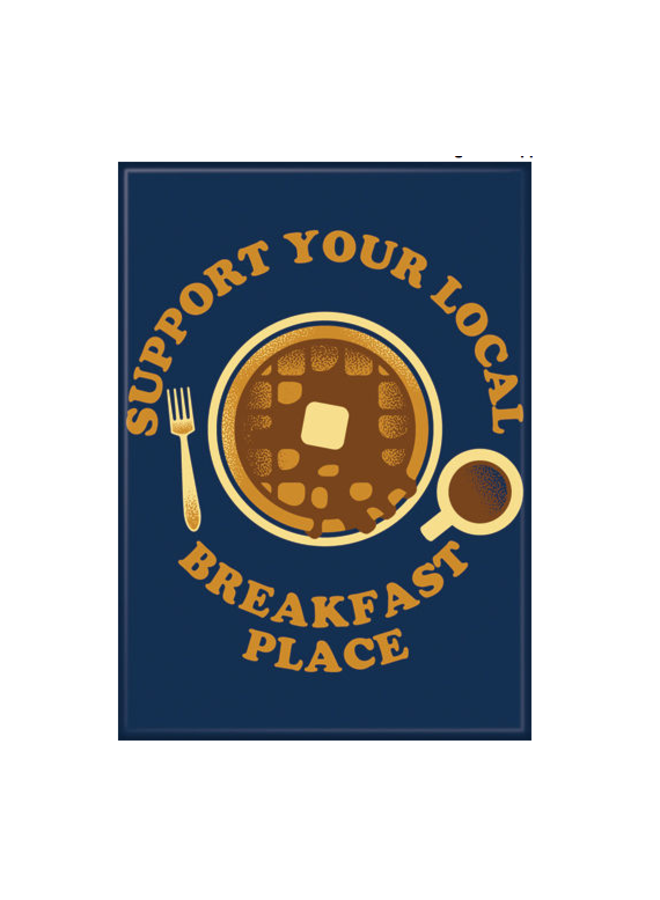 Support Breakfast Magnet