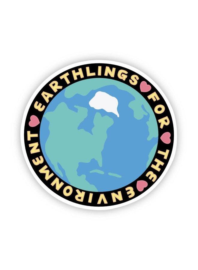 Earthlings For The Environment Sticker