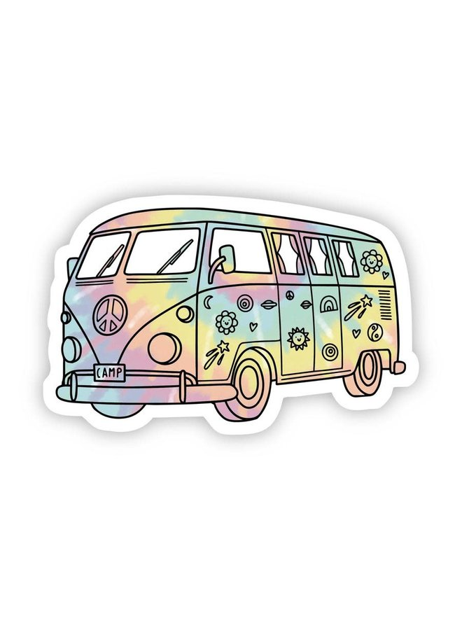 Tie Dye Hippie Van Aesthetic Sticker