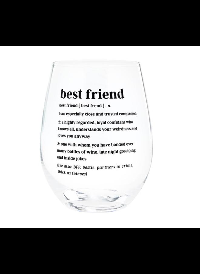 Best Friend Definition Wine  Glass