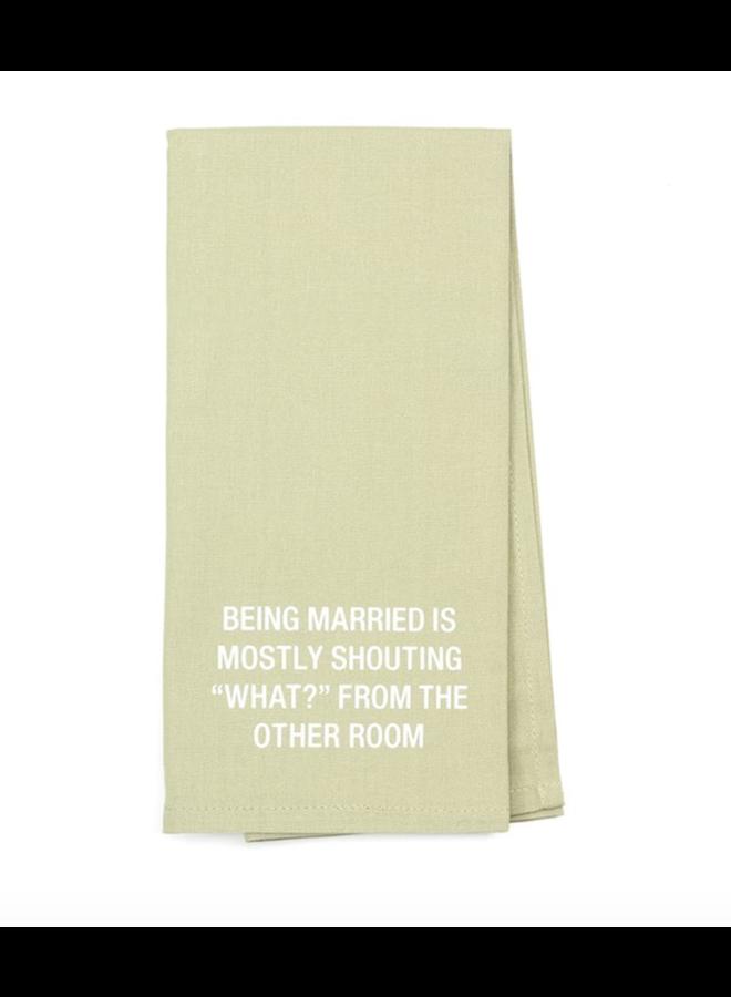 Being Married Tea Towel