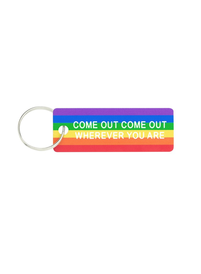 Come Out Rainbow Keychain