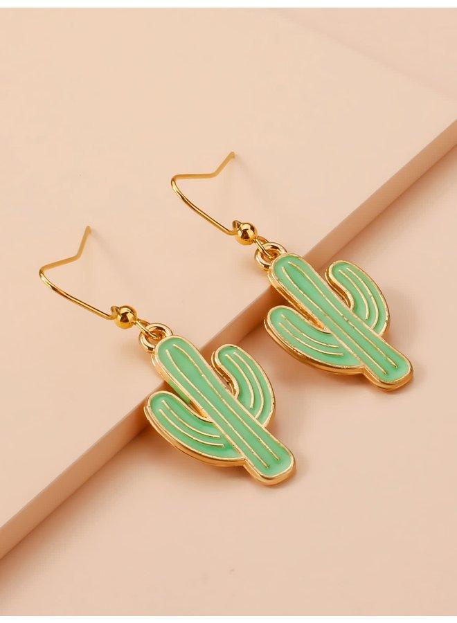 Green Cacti Earrings