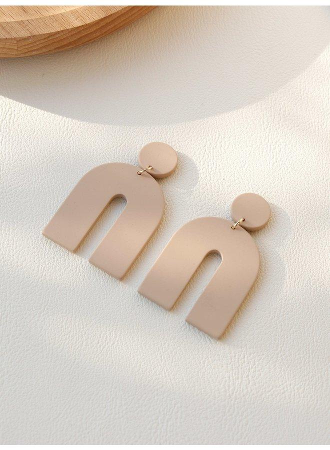 Neutral U-Shaped Earrings