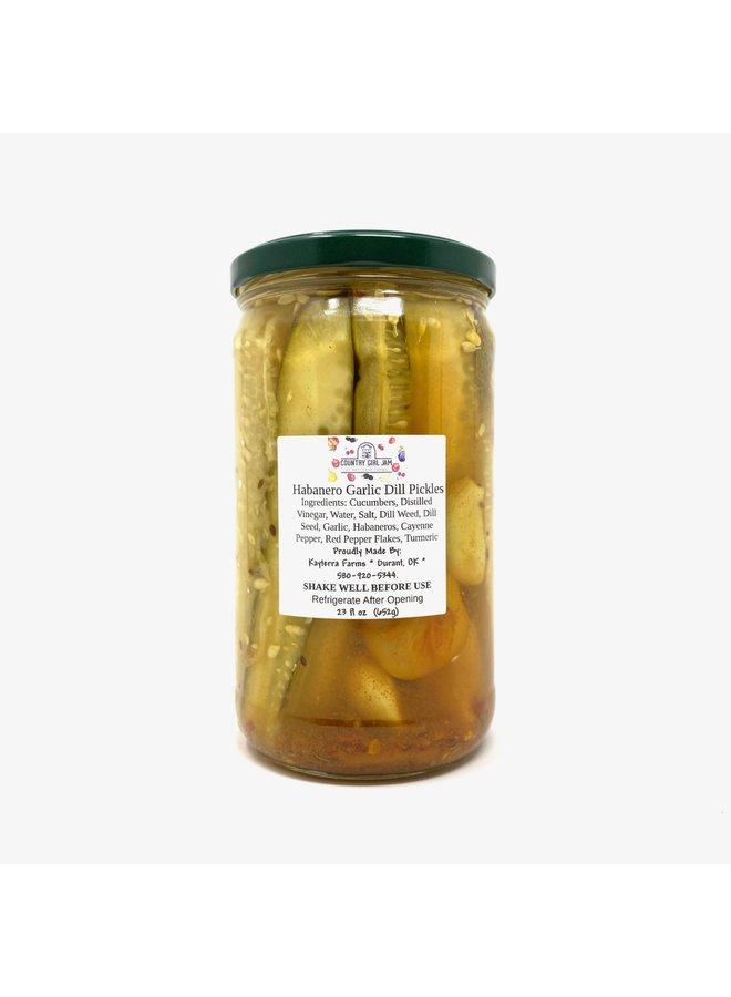 Habenero Garlic Dill Pickle Spears