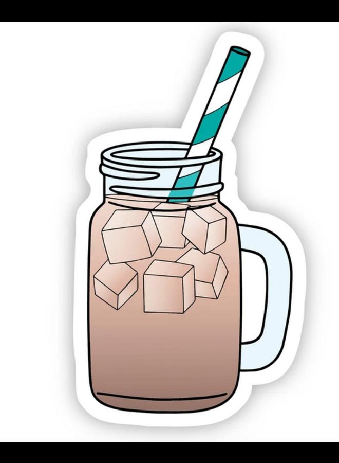 Mason Jar Iced Coffee Sticker