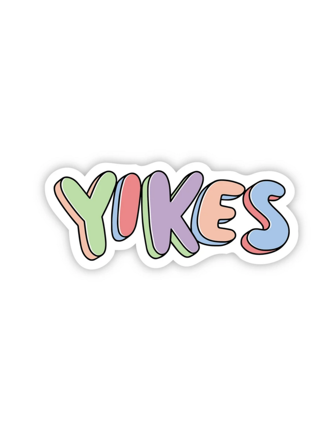 Yikes Multi Color Sticker