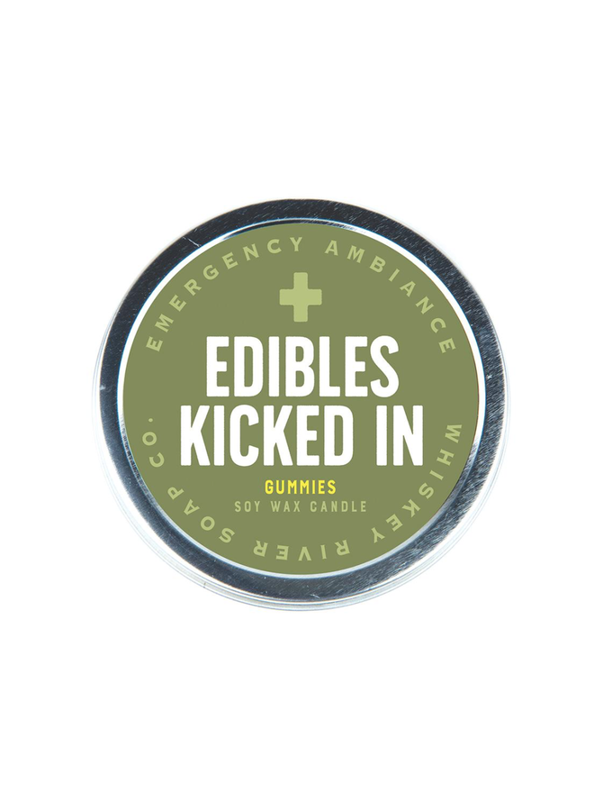 Edibles Kicked In Candle Tin