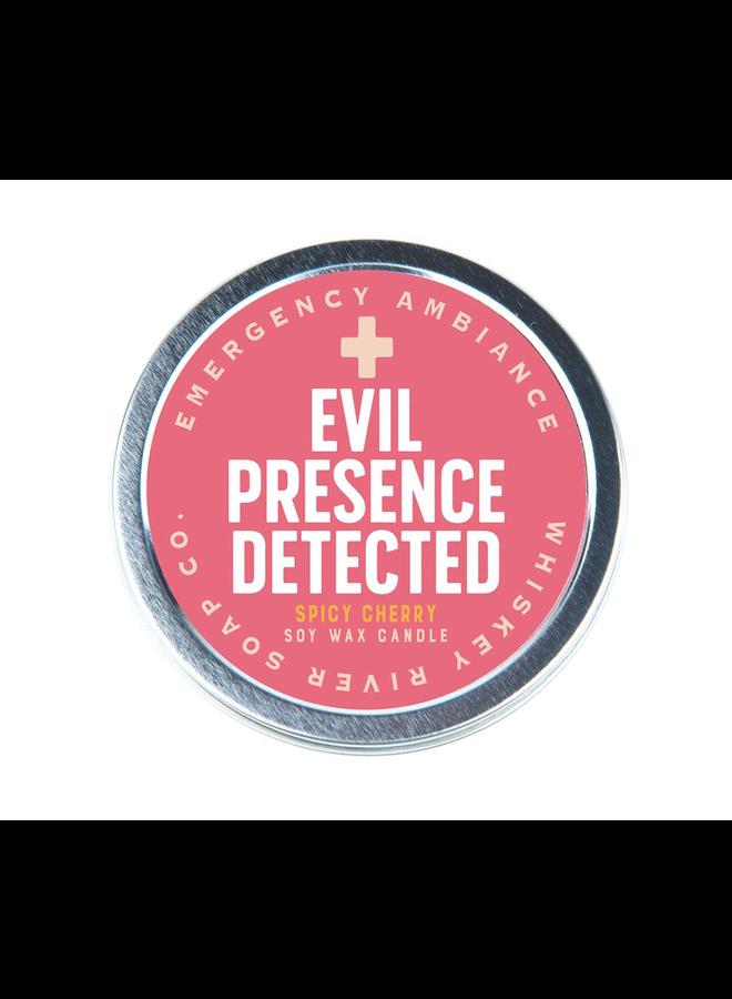 Evil Presence Candle Tin