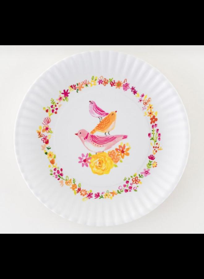 Spring Bird Melamine Plates