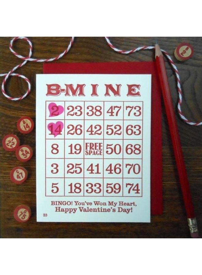 Vintage Valentine Bingo Card