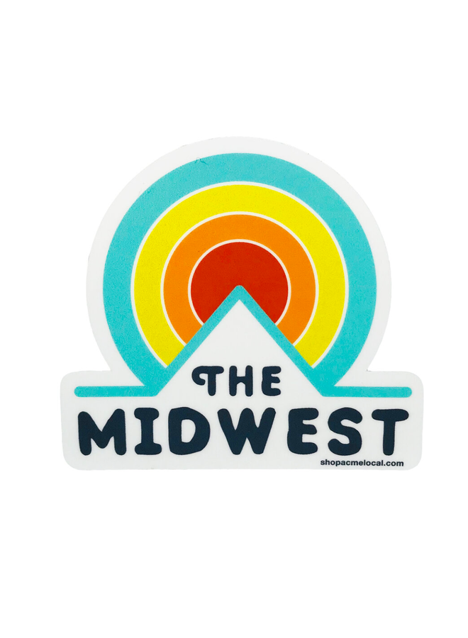 Midwest Circle Sunset Sticker