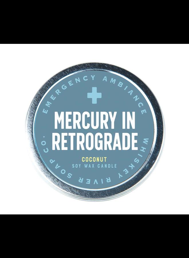 Mercury in Retrograde Candle Tin