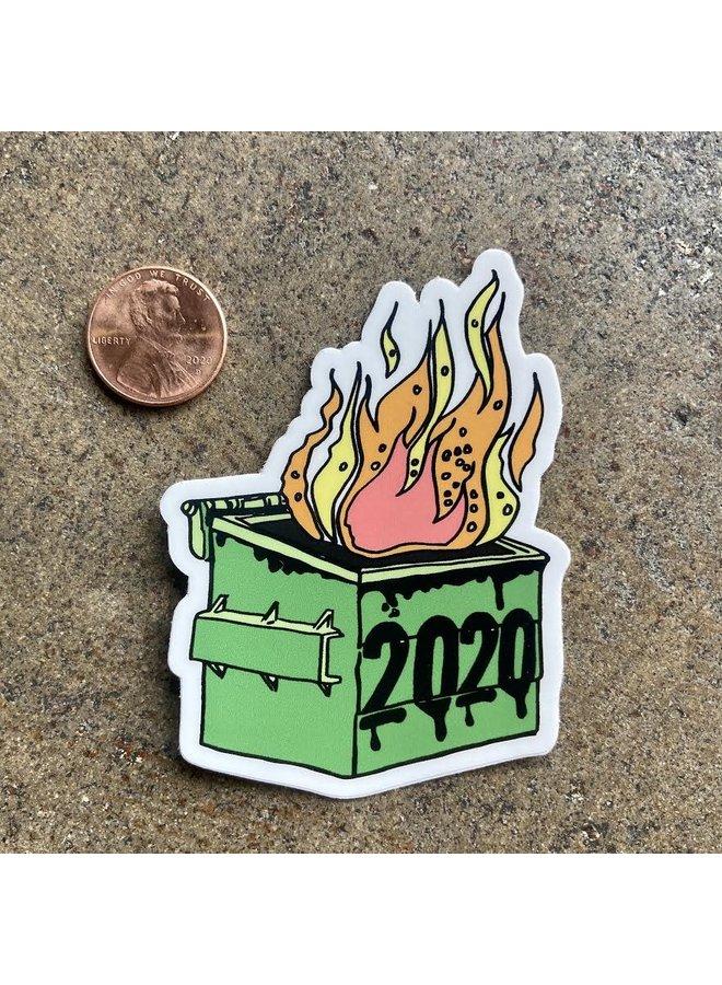 2020 Dumpster Fire Die Cut Sticker