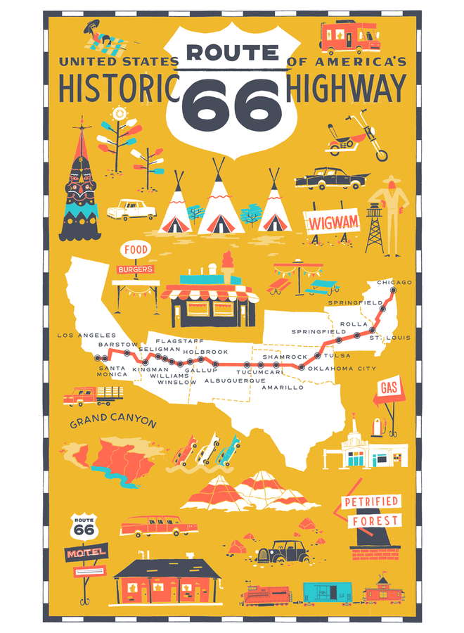 Route 66 Towel