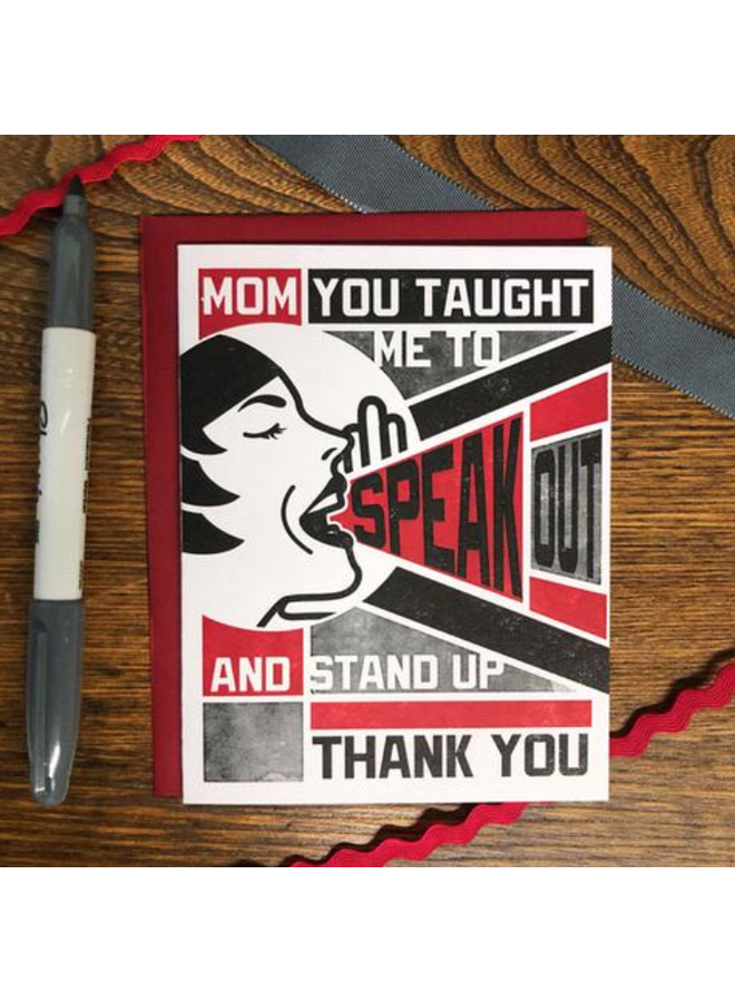 Speak Out and Stand Up Card