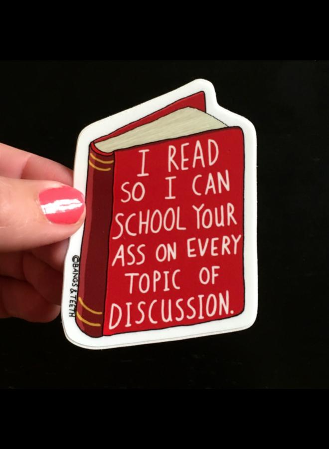 School Your Ass Book Sticker