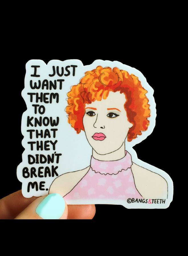 Molly Ringwald Pretty In Pink Sticker
