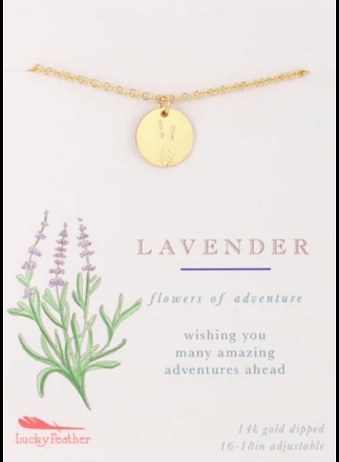 Botanical Necklace - Lavender