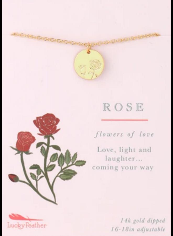 Botanical Necklace - Rose