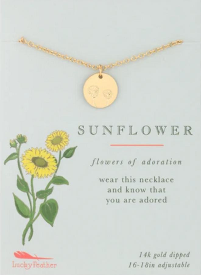 Botanical Necklace - Sunflower