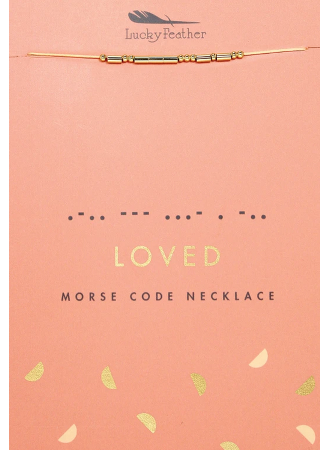 Loved Morse Code Necklace