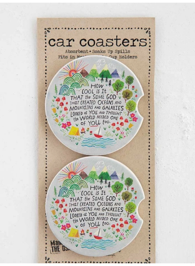 How Cool Is God Car Coasters - 2 pk