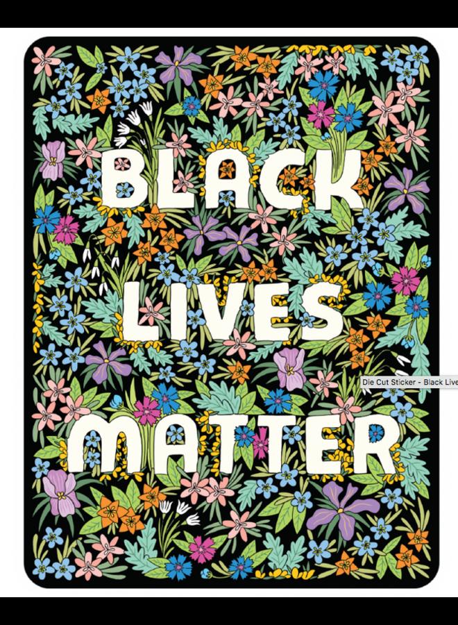 Black Lives Matter Sticker - Floral