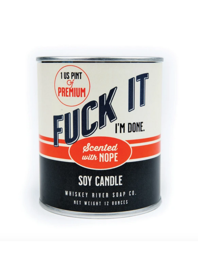 Fuck It Paint Can-dle