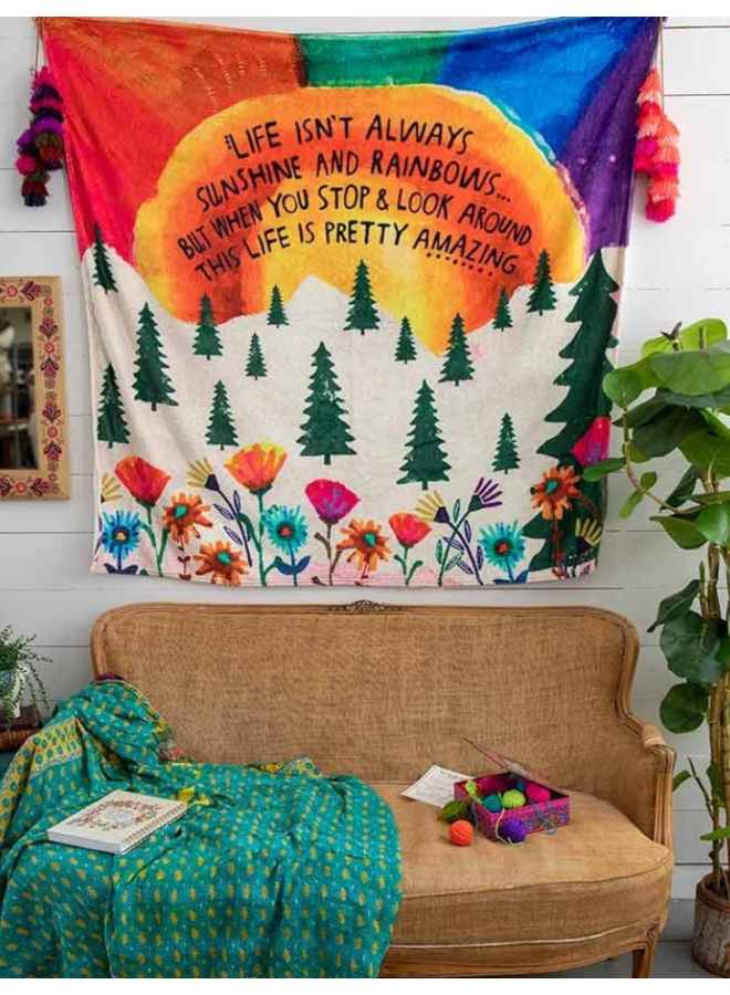 Life Isn't Always Sunshine Tapestry Blanket