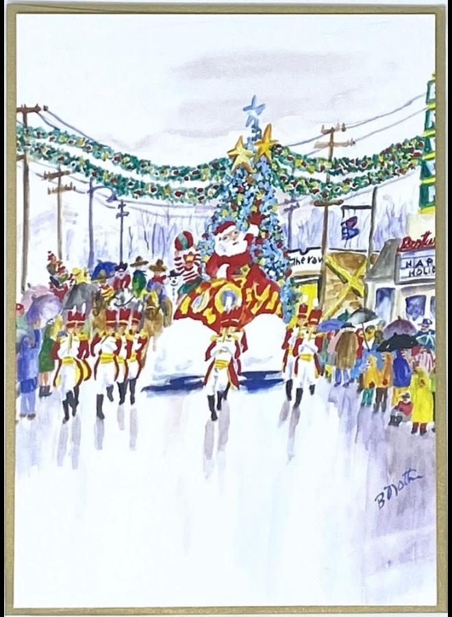 Santa Parade On Peoria Holiday Card