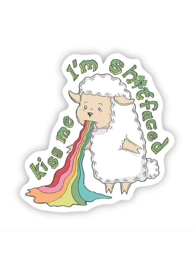 Kiss Me- Irish Sheep Sticker