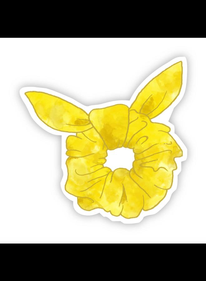 Yellow Watercolor Scrunchie Sticker