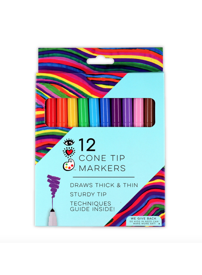 Cone Tip Markers Set