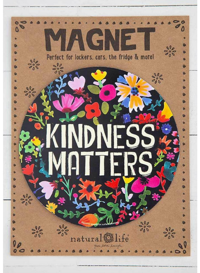 Car Magnet Kindness Matters Floral