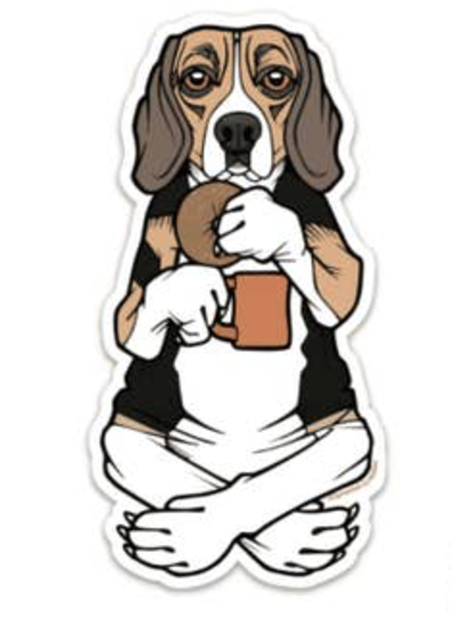 Bagel Beagle Sticker