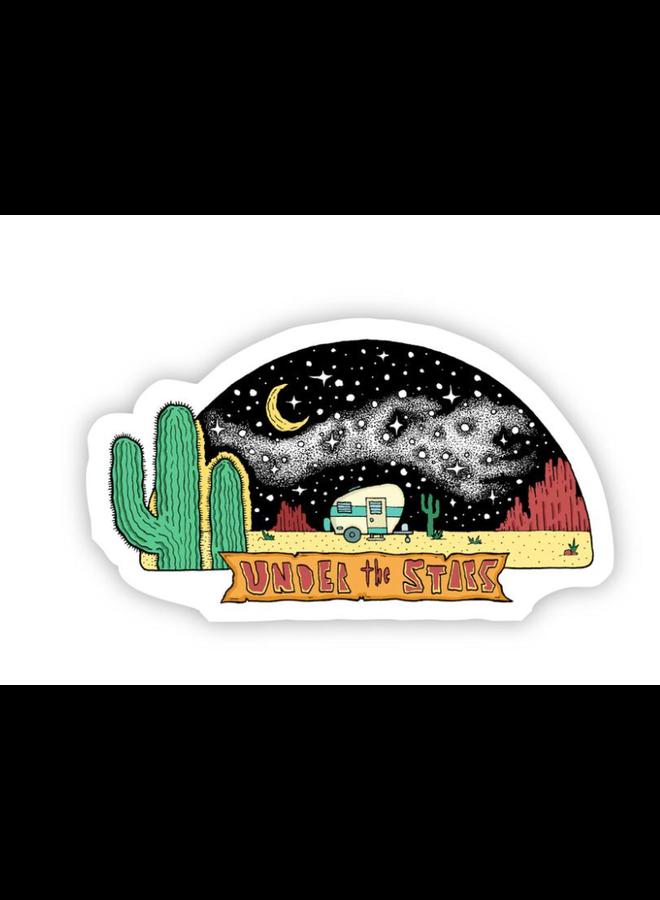 Under the Stars Nature Sticker