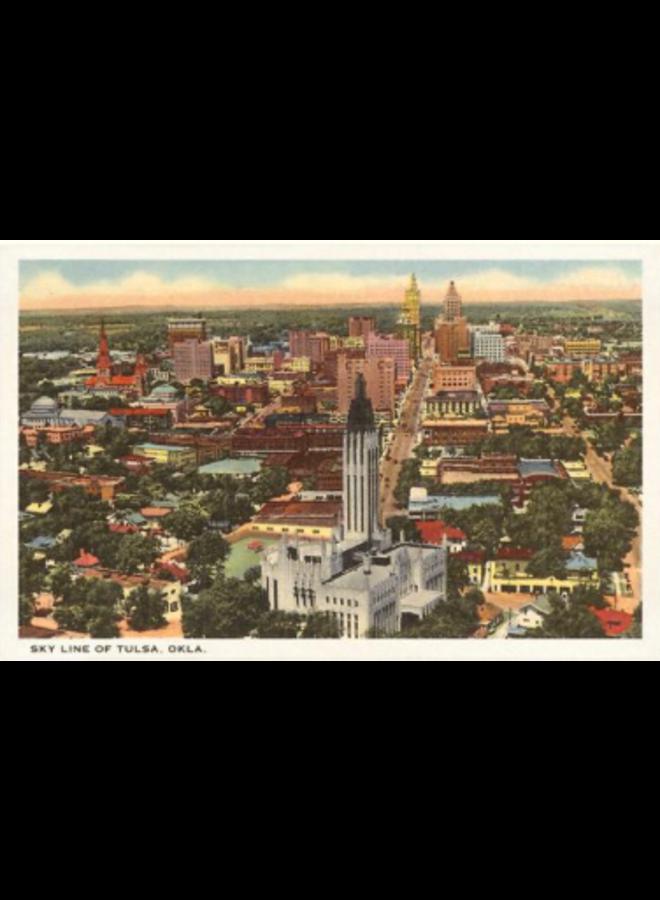Skyline Of Tulsa Vintage Postcard
