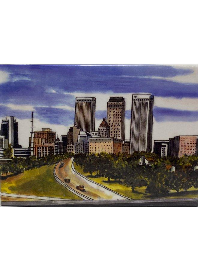 Tulsa Skyline Magnet