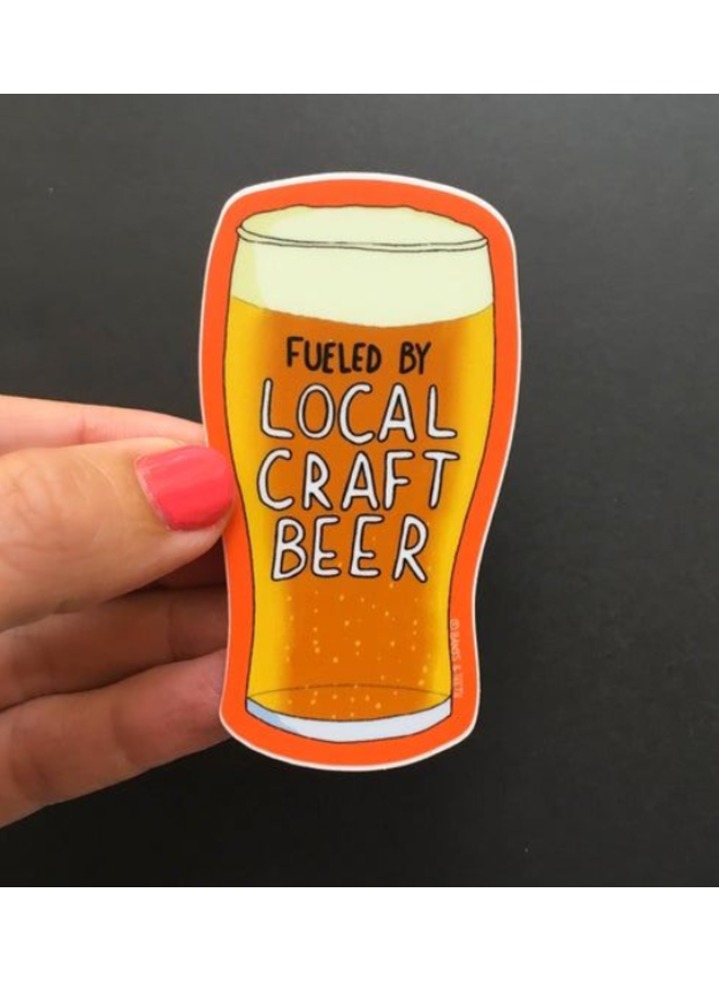 Fueled By Craft Beer Sticker